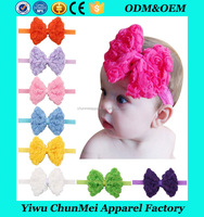 New Fashion Cute Baby Girl Kid Pearl Headband Headwear Accessories Rose Bow Lace Hairband