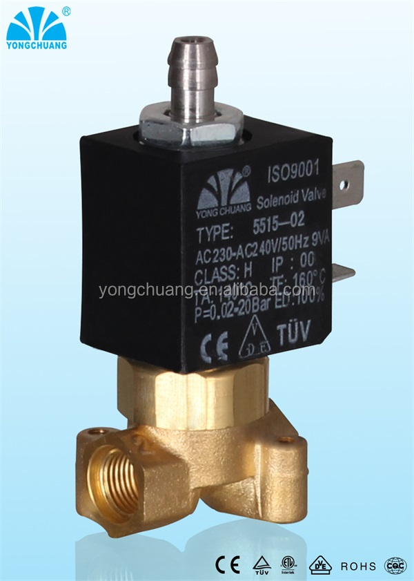 Yongchuang brand 5515 series CEME similar coffee machine solenoid valve for steam