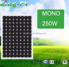 Best price high efficiency solar cell 250w monocrystalline PV solar panel price