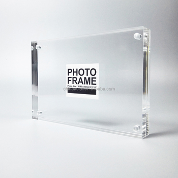 transparent blank acrylic magnets frame