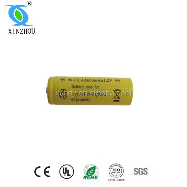 Nicd 600mah 1.2v Aa Size Battery