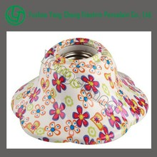 Customized colors lamp shell with E27 porcelain ceramic cfl lamp holder