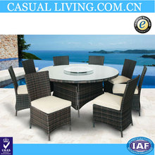 Slap-up Outdoor Cube Wicker rattan table and chairs for dinning