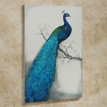 Wall hanging painting of animal pretty home picture decor peacock art