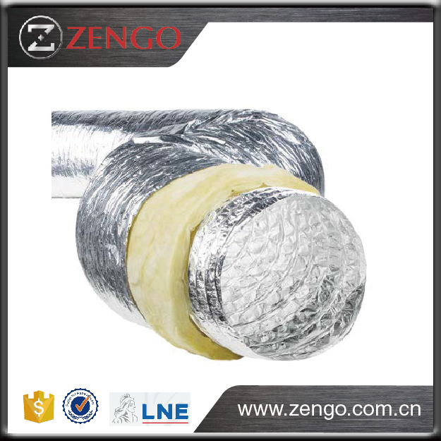 Aluminium insulated Flexible duct, ISO