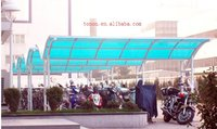 bicycle shelter lake blue 8mm polycarbonate hollow sheet for sunlight resistance