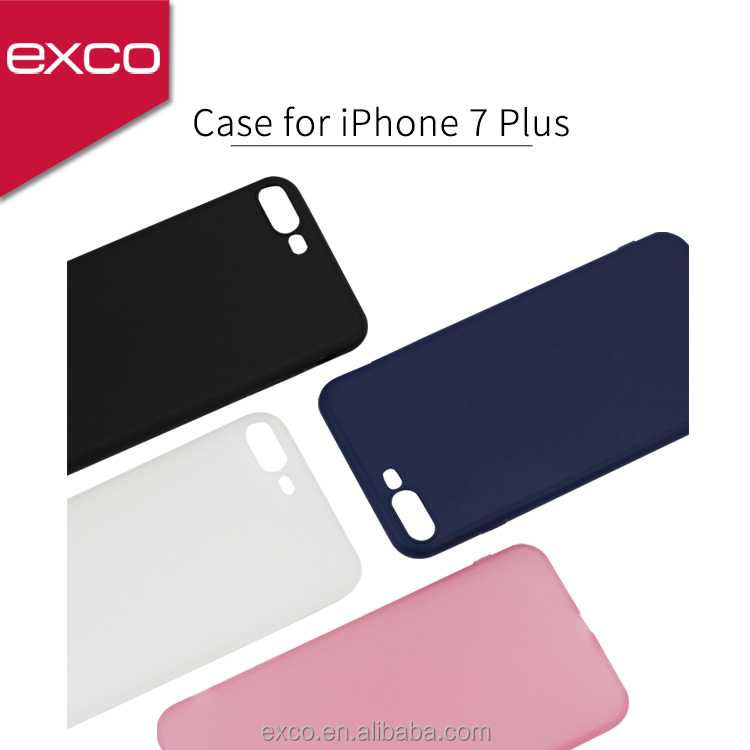 EXCO full cover customize your TPU black mobile phone case for iPhone 7 plus