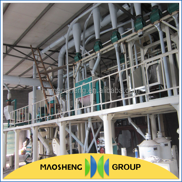 Maosheng brand easy operation corn grits flour mill processing machine