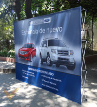 Portable Outdoor Pop up Event Backdrop/LogoWall Stand/Media Backdrop