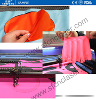 SF 1610SC double heads leather automatic laser cutting machine cut soft materials high speed