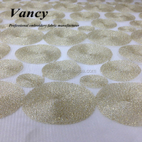2015 high quality metallic gold yarn embroidery wedding dress lace for girl and woman gown dress