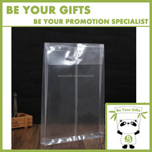 Customize Logo Imprint Vertical Type Transparent PP Plastic Expanding A4 File Pocket Holder Document Bag with drawstring