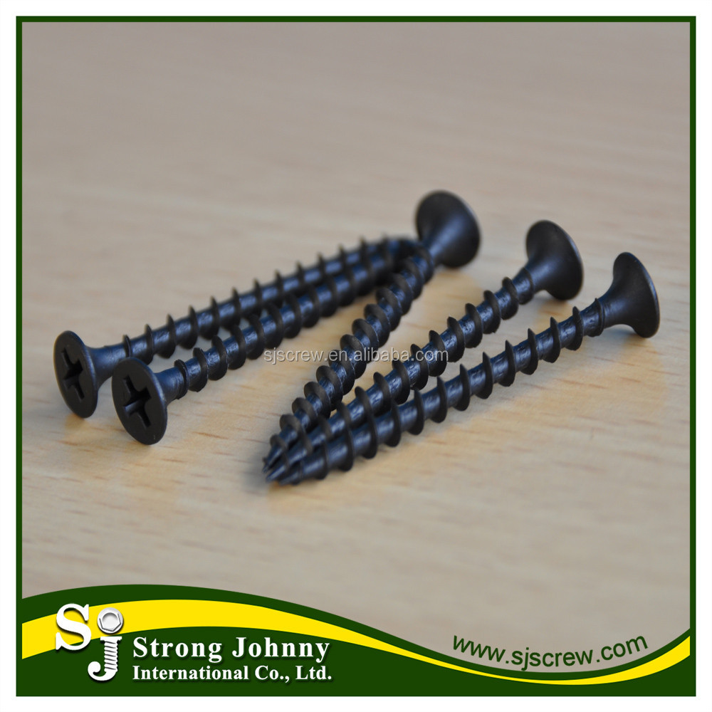 Standard coarse black drywall screws hilit for woodworking machinery