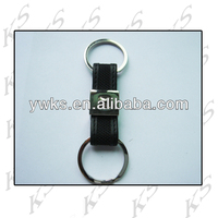 Artificial or genuine leather keyring