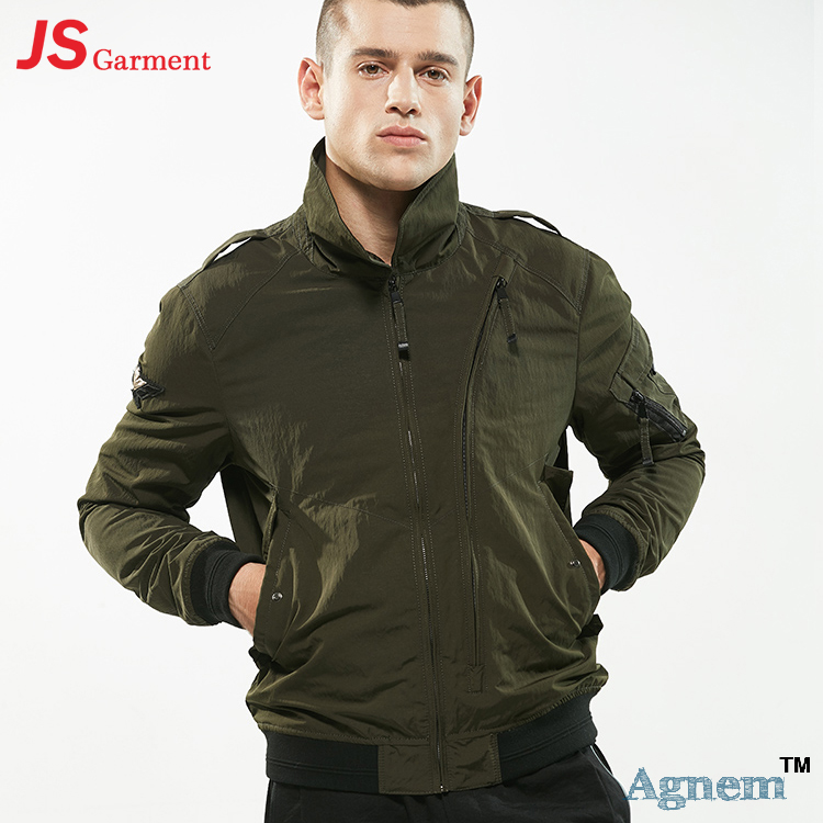 76-<strong>007</strong> New Men's Bomber Jacket Lapel Plus Size Fashion Autumn Winter Pilot Jacket