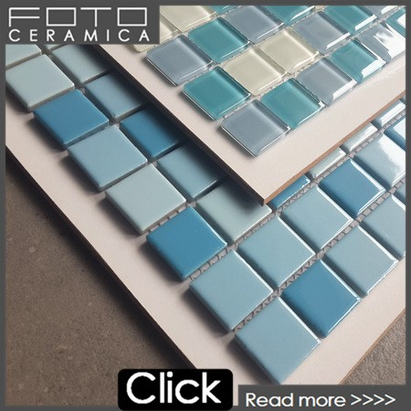 Blue ceramic mosaic paint all picture