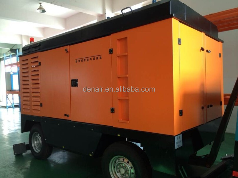 460HP 25Bar Heavy Duty Germany DENAIR Portable Diesel Air Compressor for Mining Gas and Oil