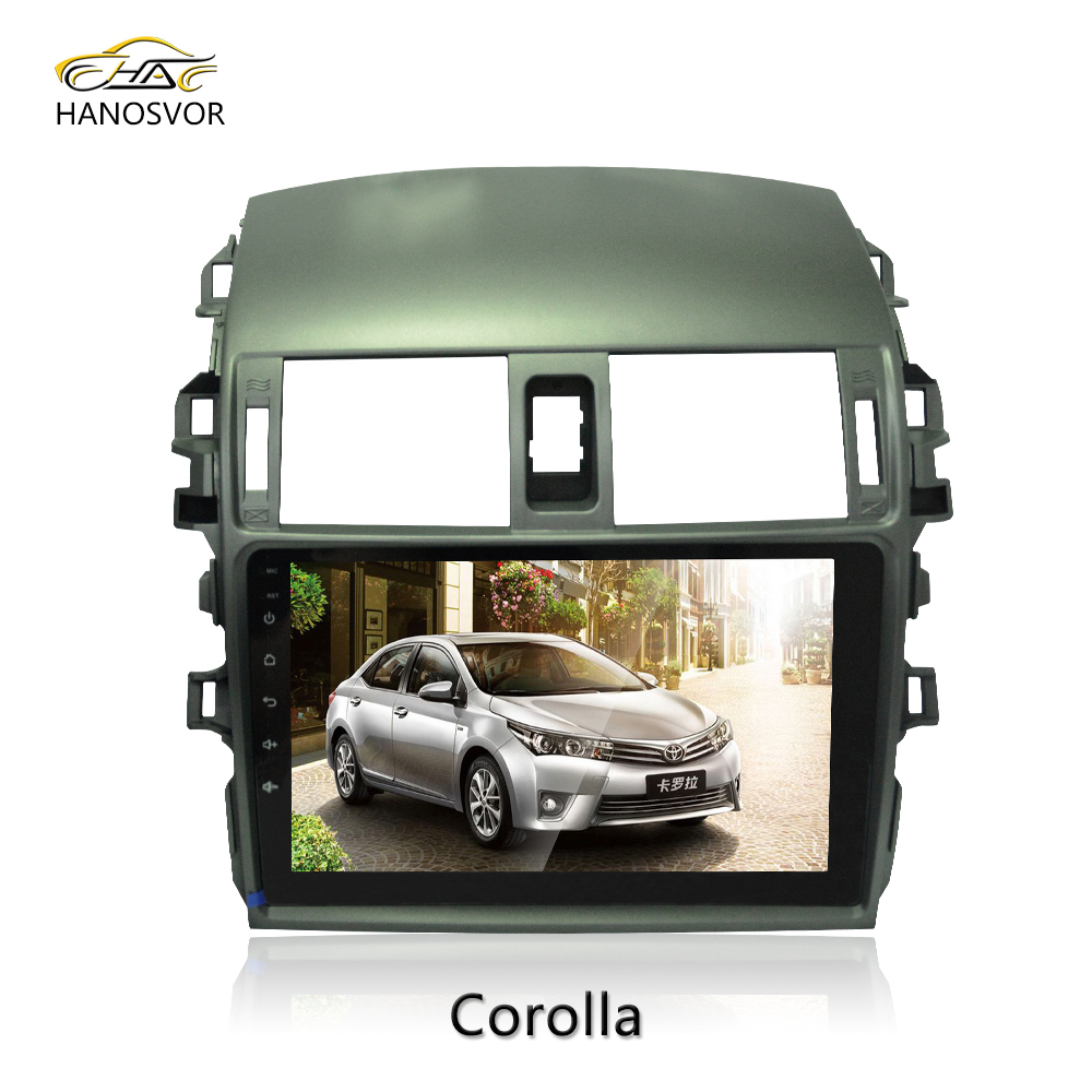 9 inch Full Touch Screen Car GPS Player Stereo Audio Radio For Corolla 2009 Android 6.0 Multimedia System WIFI 3G USB SD BT