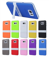 Soft Rubber TPU Cover With PC Frame Stand Case For Samsung Galaxy Note 2 7100