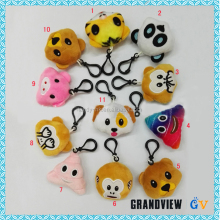 Fashionable Animal Plush Keychain ,Emoji Keychain ,Animal Shape Plush Toy Keychain