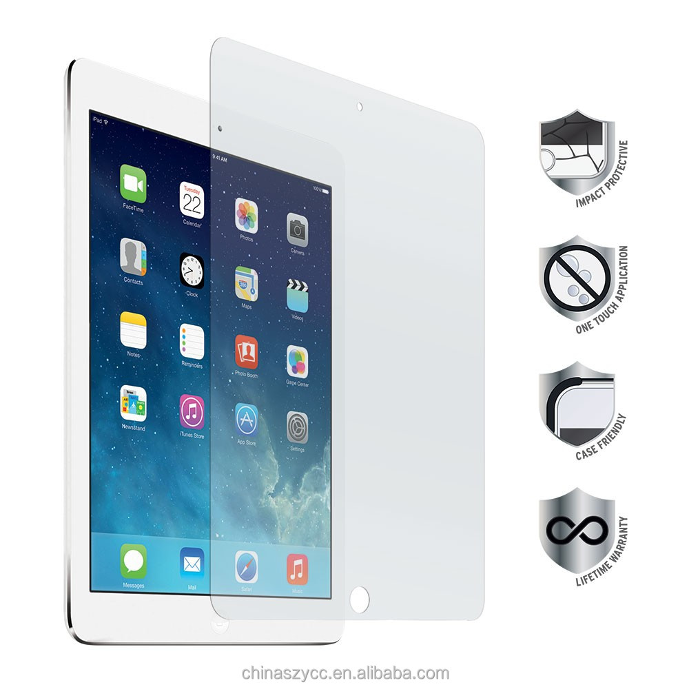 "explosion-proof tempered glass PAD screen protector for ipad Air 10.1"" screen film"