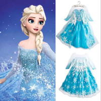 Princess Dress Baby Girls Cothing 2015 Popular Party Frozen Chiffon Dresses