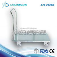Hospital Stainless Steel Flat Cart/Trolley