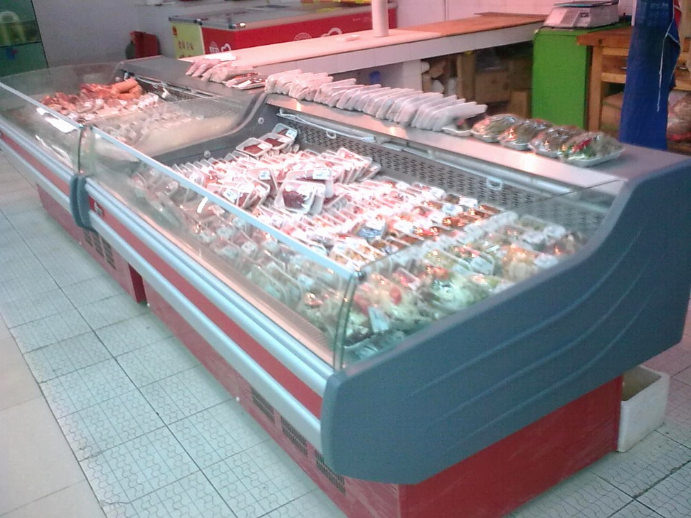 Green Health Refrigeration Equipment For Meat Fish Display