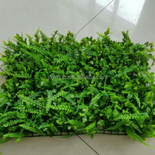 Factory Wholesale Cheap Plastic Green Artificial Plant Wall for Decoration
