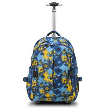 TROLLEY best backpack BAG FOR SCHOOL backpacks fashion Printed school bags Travel Backpacks With Laptop Compartment and Trolley