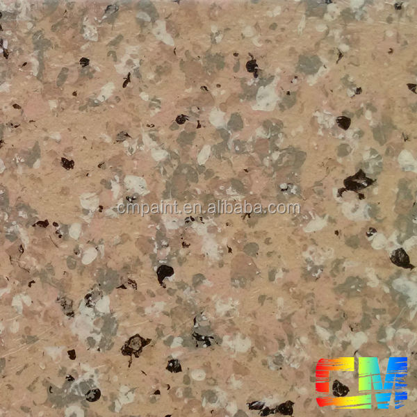 Acrylic multi color granite spray paint interior building coating granite stone paint -texture paint in building coating