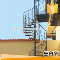 Decoration cast iron stair railing, stairs grill design