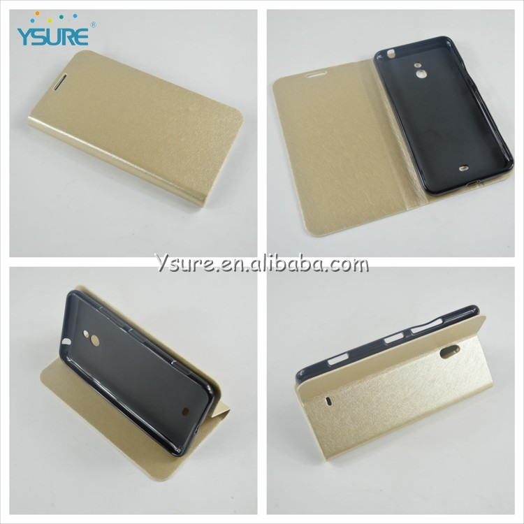 Luxury Silk Grain Standable Flip Cover Phone Case for Nokia Lumia1320