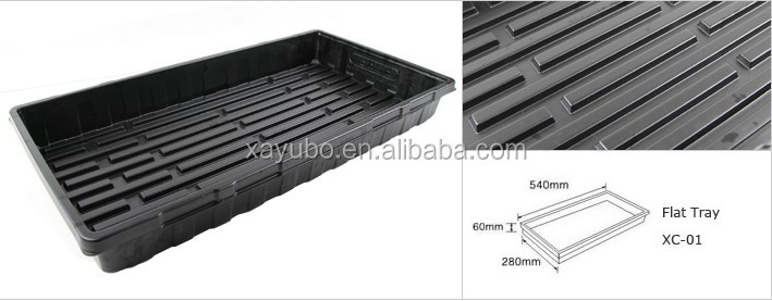 Greenhouse flat black inch plastic seedling tray for plants