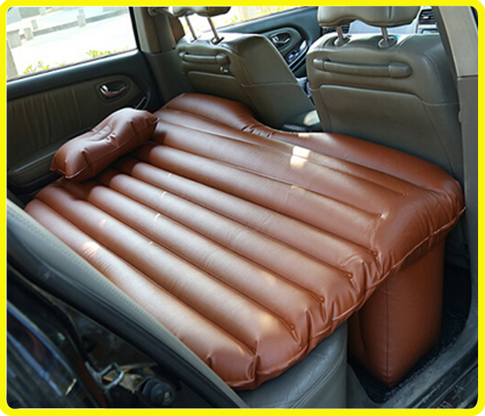 TPU Car back seat bed , brown inflatable mattress for car , coffee car backseat air mattress