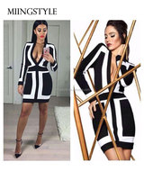 Hot selling woman bodycon cocktail formal party dress , long sleeve one-piece latest dress designs bandage dress for ladies