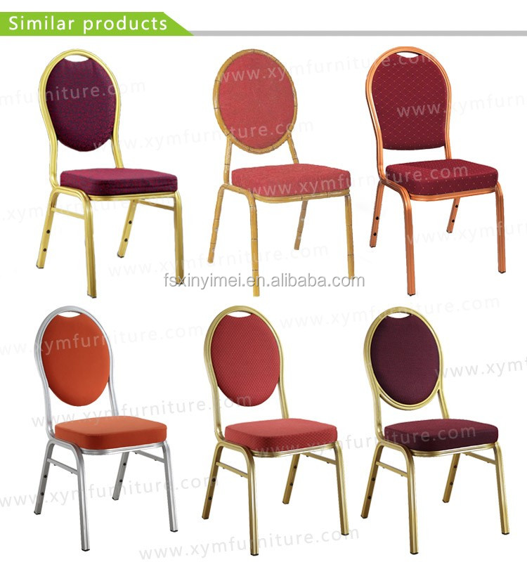 high grade hotel stacking aluminum banquet dinner chairs