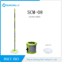 High quality patented easy dewatering spin adjustable mop handle,360 Rotating Magic Mop