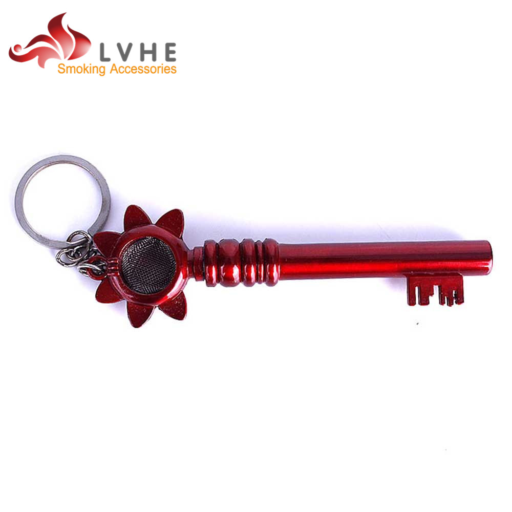 036PM LVHE Top Aluminum Pipe End Caps Bone Smoking Pipe Stem