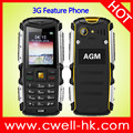 2.0 Inch Dual SIM 2750mAh Battery AGM M1 IP68 Waterproof Rugged 3G Feature Phone