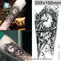QC604/Body Temporary Tattoos Machine Shoulder Clock Tattoo From Rocooart