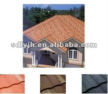 Arctic color stone coated steel roofing for villas/ town house/hotel