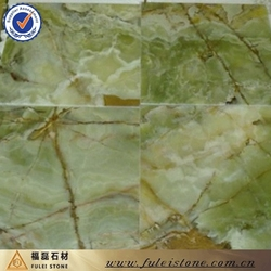 hot sale natural high polished dark green onyx floor tiles