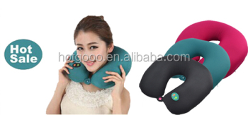 MNP-1602 good quality newest memory foam u shape neck pillow wireless