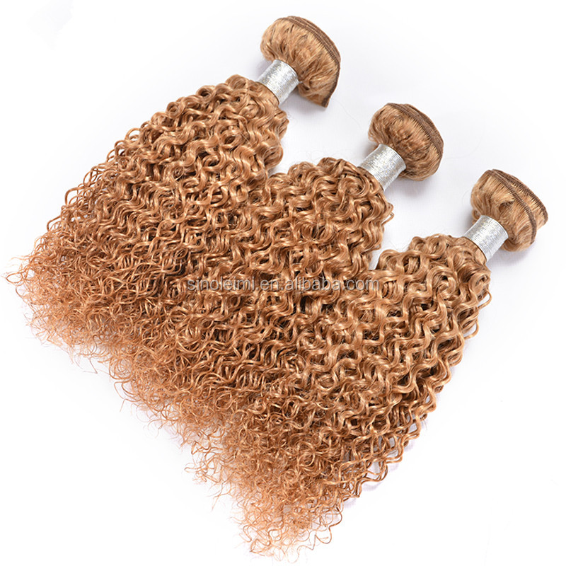 Blonde Kinky Curly Virgin Hair weave, Honey Blonde Mongolian Kinky Curly Hair, Kinky Curly Hair bundles Color 27
