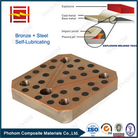 Brass Bronze Copper Clad Steel Self-lubricating Sliding Plate Wear Resistant Plate with Explosive Welding Improved Technology