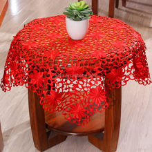 85*85cm Square polyester fabric beside tablecloths refrigeritor tablecover lace tablecloth