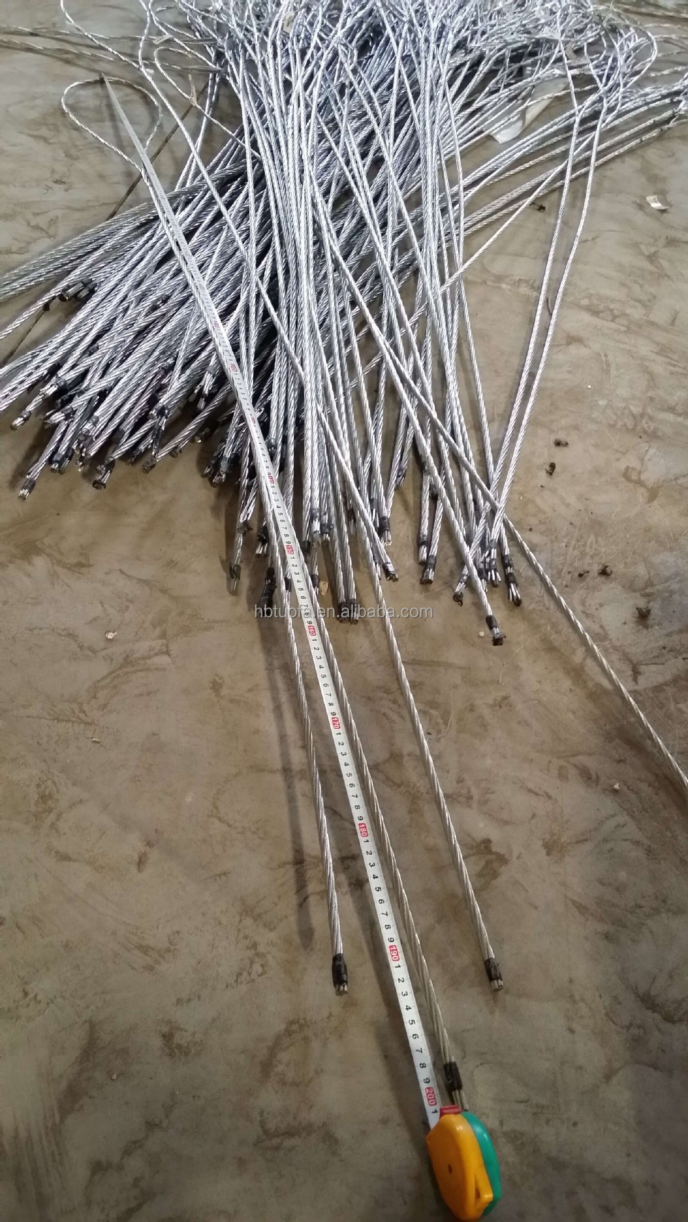 galvanized stay wire /guy wire 1.9meter and 2 meter pole top make off guy gripwire rope cross clamp
