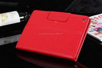 New fashion portable folding stand bluetooth keyboard PU leather Red case for Ipad 4