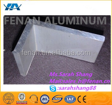 Polished aluminum extrusion profiles concrete window and door frame